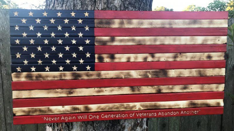American Flag Custom Lettering